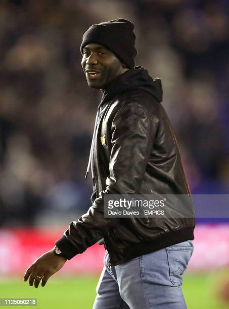Former Birmingham City player Fabrice Muamba on the pitch before the game Birmingham City v Bolton Wanderers Sky Bet Championship St Andrew's...