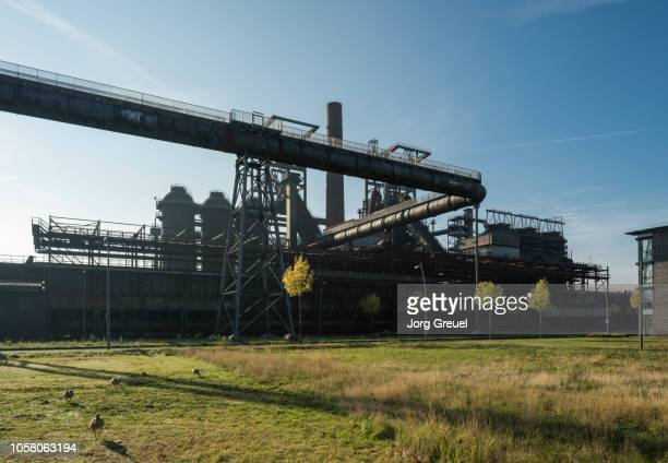 former blast furnace - ruhr stock pictures, royalty-free photos & images