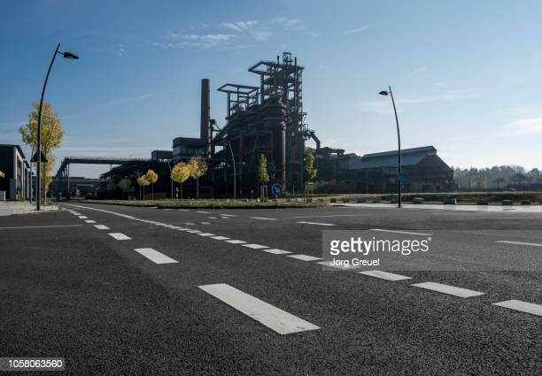 former blast furnace - dortmund city stock pictures, royalty-free photos & images