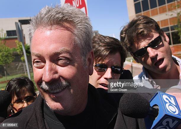 Former Bolllingbrook Illinois police officer Drew Peterson leaves the Will County Jail after posting bail for a felony weapons charge May 21 2008 in...