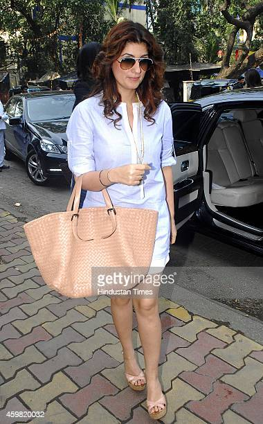 Former Bollywood actress Twinkle Khanna during the launch of new collection by Sussanne Khan at her store Charcoal Project Andheri on November 23...