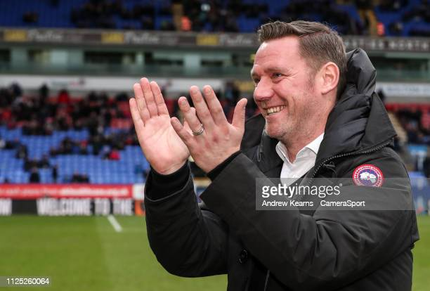 Former Bolton Wanderers' player Kevin Nolan during the Sky Bet Championship match between Bolton Wanderers and Norwich City at Macron Stadium on...