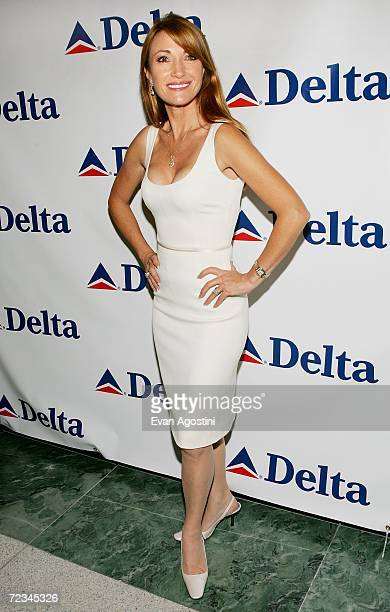 """Former """"Bond Girl"""" Jane Seymour makes an appearance to celebrate Delta Ailrines' newest international route between New York and London at Stone Rose..."""