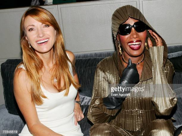 """Former """"Bond Girls"""" Jane Seymour and Grace Jones make an appearance to celebrate Delta Ailrines' newest international route between New York and..."""