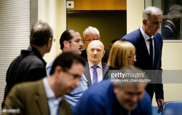 Former Bosnian Croat army officer Milivoj Petkovic is pictured prior to the judgement in the appeals case of six former Bosnian Croat political and...