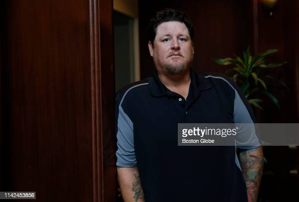 Former Boston Red Sox pitcher Bobby Jenks poses for a portrait in Boston on May 7 2019 Jenks will receive $51 million to settle a claim that he...