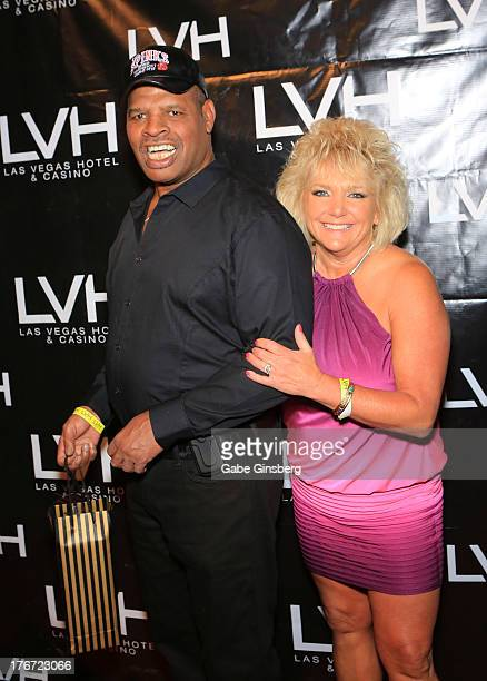 Former boxer and honoree Leon Spinks and his wife Brenda GlurSpinks arrive at the Night of the Champion event to honor former boxer Leon Spinks...