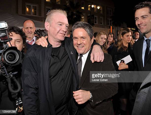 Former boxer Dicky Eklund and CEO of Paramount Pictures Brad Grey arrive at The Fighter Los Angeles premiere held at the Grauman's Chinese Theatre on...