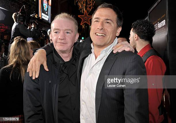 Former boxer Dicky Eklund and director David O Russell arrive at The Fighter Los Angeles premiere held at the Grauman's Chinese Theatre on December 6...