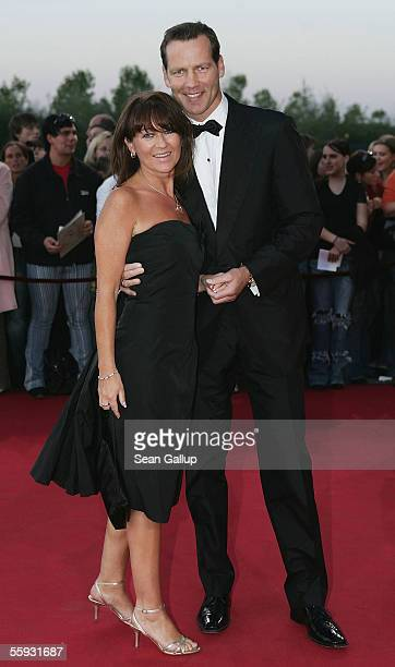 Former boxer Henry Maske and his wife Manuela arrive at the German Television Awards at the Coloneum on October 15, 2005 in Cologne, Germany.
