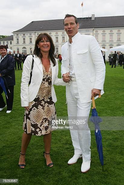 Former boxer Henry Maske and his wife Manuela Maske attend the summer reception of German President Horst Koehler at Bellevue Castle on July 6, 2007...