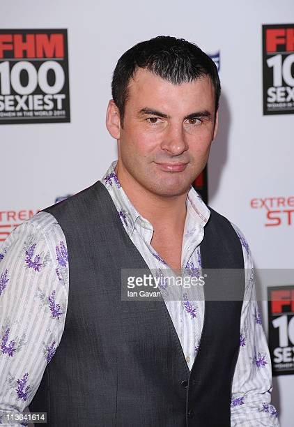 Former Boxer Joe Calzaghe attends the FHM 100 Sexiest Women In The World Launch Party at One Marylebone on May 4 2011 in London United Kingdom