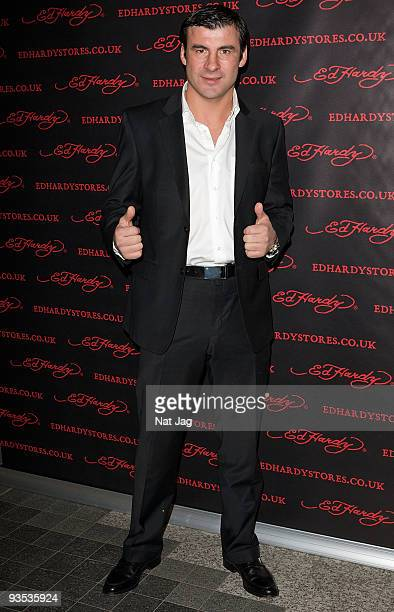 Former boxer Joe Calzaghe attends the opening of the new Ed Hardy store at Westfield on December 1, 2009 in London, England.