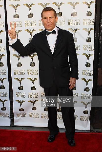 Former Boxer Julio Cesar Chavez arrives at Premios Los Angeles 2014 at The Theatre at Ace Hotel Downtown LA on May 28 2014 in Los Angeles California