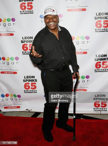 Boxer Jessie Vargas attends a birthday celebration for Leon Spinks' at the Chocolate Lounge at Sugar Factory American Brasserie at the Fashion Show...