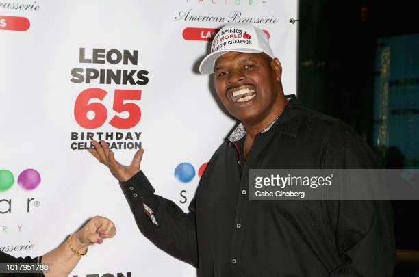 Former boxer Leon Spinks attends his birthday celebration at the Chocolate Lounge at Sugar Factory American Brasserie at the Fashion Show Mall on...