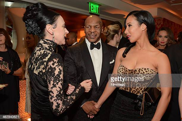 Former boxer Mike Tyson and Lakiha Spicer attend HBO's Official Golden Globe Awards After Party at The Beverly Hilton Hotel on January 12 2014 in...
