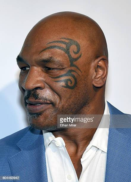Former boxer Mike Tyson attends Criss Angel's HELP charity event at the Luxor Hotel and Casino benefiting pediatric cancer research and treatment on...