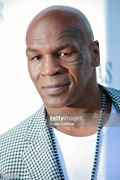Former boxer Mike Tyson attends the premiere of ESPN Films' 'One Night In Vegas' at the Dwyer Cultural Center on August 31 2010 in New York City