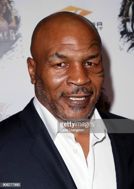 Former boxer Mike Tyson attends the premiere of Well Go USA Entertainment's 'Kickboxer Retaliation' at ArcLight Cinemas on January 17 2018 in...