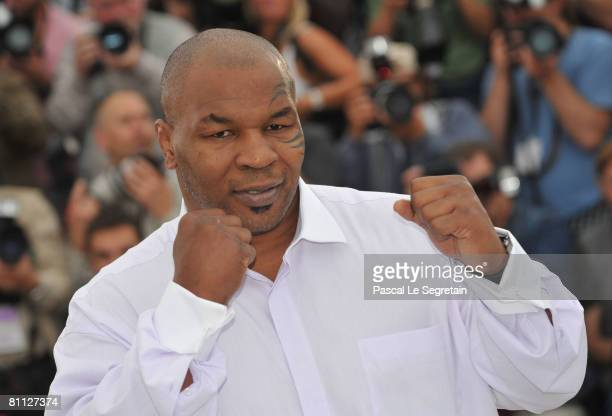 Former boxer Mike Tyson attends the Tyson Photocall at the Palais des Festivals during the 61st International Cannes Film Festival on May 17 2008 in...