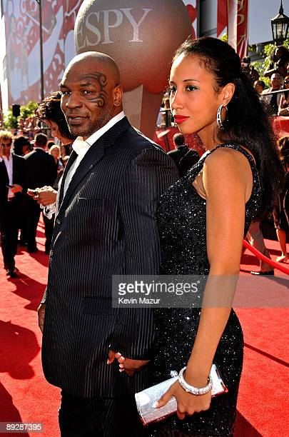 Former boxer Mike Tyson with Monica Turner arrives at the 17th annual ESPY Awards held at Nokia Theatre LA Live on July 15 2009 in Los Angeles...