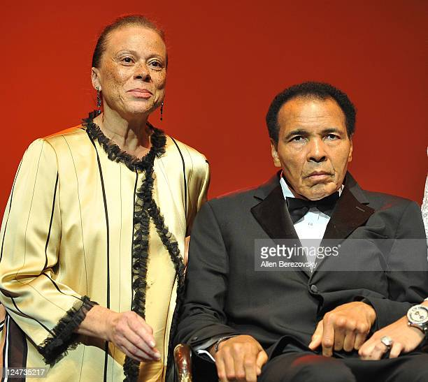 Former Boxer Mohammad Ali and wife Lonnie Ali attend the 4th Annual Life Changing Lives Gala Honoring Muhammad Ali at City National Grove of Anaheim...