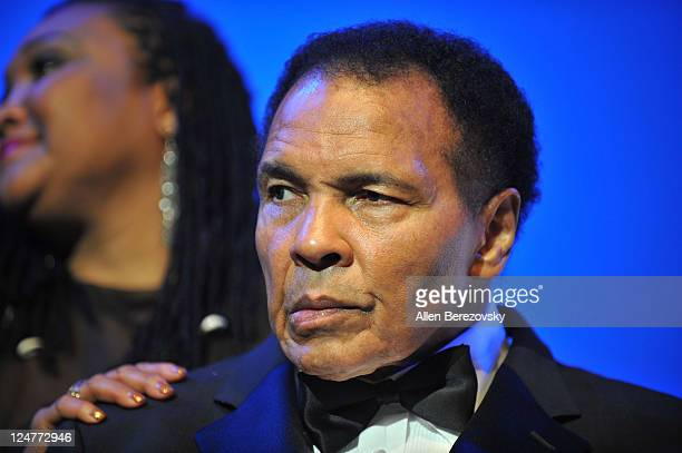 Former Boxer Mohammad Ali attends the 4th Annual Life Changing Lives Gala Honoring Muhammad Ali at City National Grove of Anaheim on September 11...