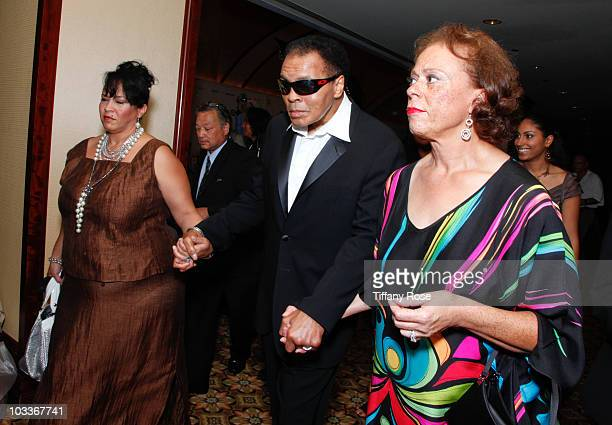 Former boxer Muhammad Ali arrives at the 10th Annual Harold Pump Foundation Gala on August 12 2010 in Century City California