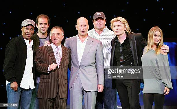 Former boxer Ray Leonard former tennis player Pete Sampras Planet Hollywood Resort Casino cochairman Robert Earl actor Bruce Willis baseball pitcher...