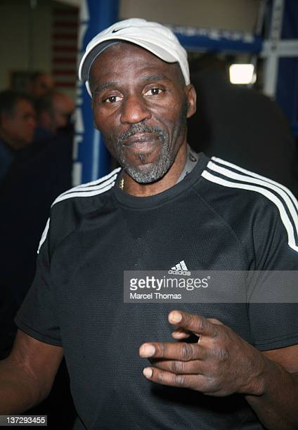 Former boxer Roger Mayweather at the presentation of a check for $100000 to the Susan G Komen Race for a Cure at Mayweather Boxing Gym on January 18...