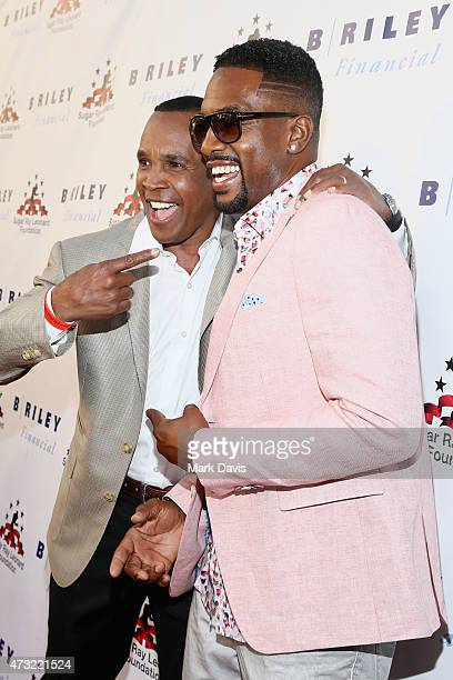 Former Boxer Sugar Ray Leonard and actor and comedian Bill Bellamy attend B Riley Co And Sugar Ray Leonard Foundation's 6th Annual Big Fighters Big...