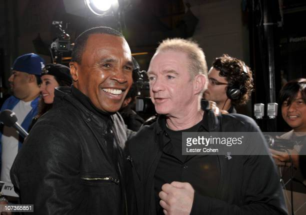 Former boxer Sugar Ray Leonard and Dicky Eklund arrive at The Fighter Los Angeles premiere held at the Grauman's Chinese Theatre on December 6 2010...