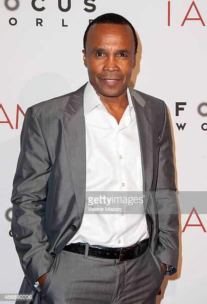 Former boxer Sugar Ray Leonard attends the Premiere Of Focus World's 'I Am Ali' at ArcLight Cinemas on October 8 2014 in Hollywood California