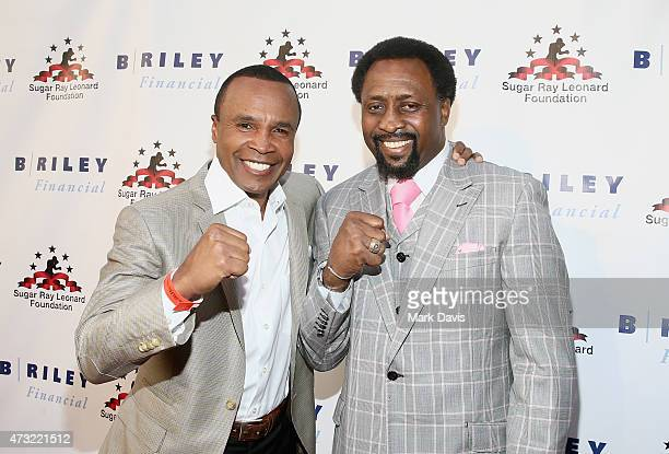 Former Boxers Sugar Ray Leonard and Thomas Hearns attend B Riley Co And Sugar Ray Leonard Foundation's 6th Annual Big Fighters Big Cause Charity...