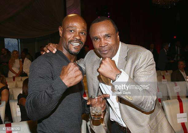 Former Boxers Terry Norris and Sugar Ray Leonard attend B Riley Co And Sugar Ray Leonard Foundation's 6th Annual 'Big Fighters Big Cause' Charity...