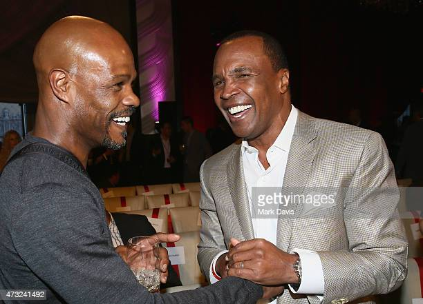 Former boxers Terry Norris and Sugar Ray Leonard attend B Riley Co And Sugar Ray Leonard Foundation's 6th Annual Big Fighters Big Cause Charity...