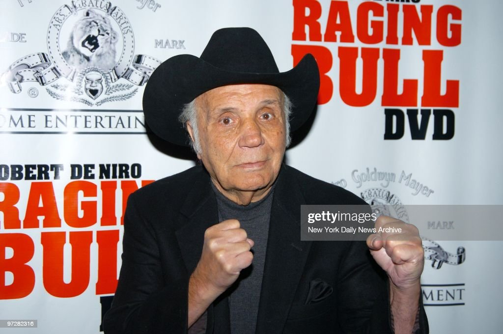Former boxing champ Jake LaMotta is at the Ziegfeld Theater for a special screening to celebrate the 25th anniversary of 'Raging Bull,' the 1980 movie based on his life and career. A two-disc collector's edition of the film will be released on DVD on Feb. 8.