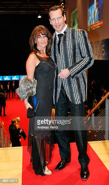Former boxing champion Henry Maske and his wife Manuela arrives for the 57th annual Bambi Awards at the International Congress Center on December 1,...