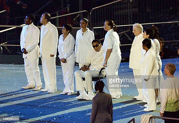 Former boxing champion Mohamed Ali attends the opening ceremony of the London 2012 Olympic Games on July 27 2012 at the Olympic Stadium in London AFP...