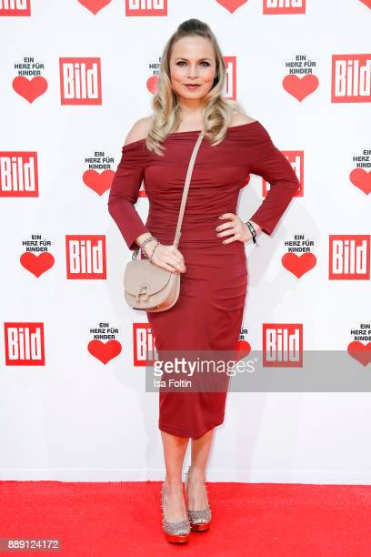 Former boxing champion Regina Halmich attends the 'Ein Herz fuer Kinder Gala' at Studio Berlin Adlershof on December 9 2017 in Berlin Germany