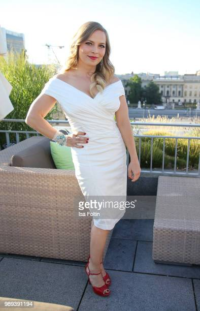 Former boxing champion Regina Halmich during the Ladies Dinner at Hotel De Rome on July 1 2018 in Berlin Germany