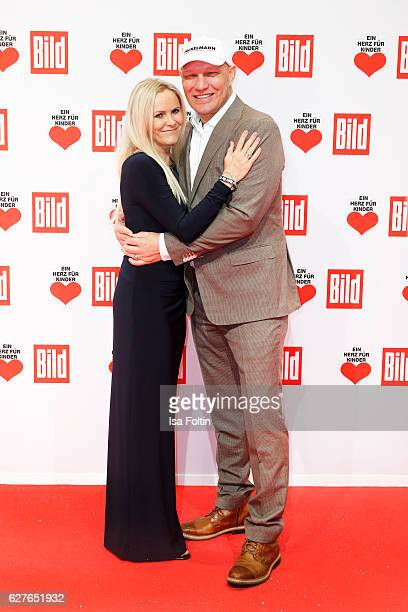 Former boxing star Axel Schulz and his wife Patricia Schulz attend the Ein Herz Fuer Kinder gala on December 3 2016 in Berlin Germany