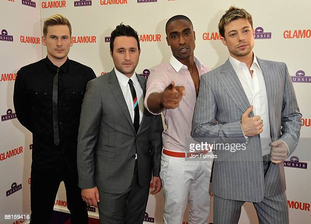 Former boyband Blue Lee Ryan, Antony Costa, Simon Webbe and Duncan James as they attend the Glamour Women of the Year Awards 2009 at Berkeley Square...