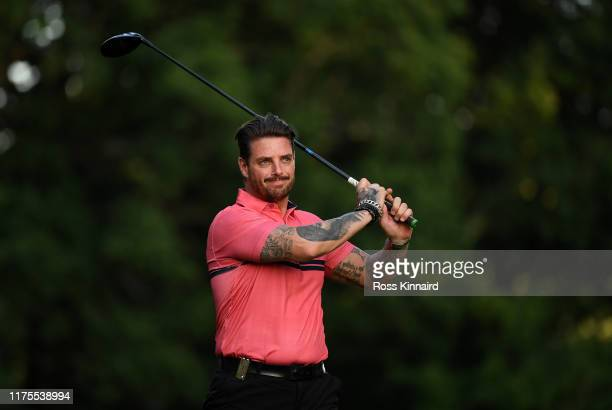 Former Boyzone band member Keith Duffy in action during the proam event prior to the BMW PGA Championship at Wentworth Golf Club on September 18 2019...
