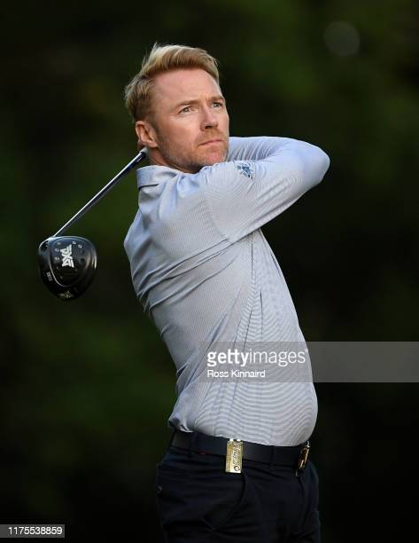 Former Boyzone band member Ronan Keating in action during the proam event prior to the BMW PGA Championship at Wentworth Golf Club on September 18...