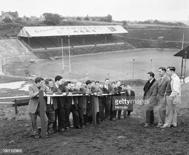Former Bradford Northern Rugby league player Trevor Foster and new secretary GW Turton talk to seventeen of the old players who were among the first...