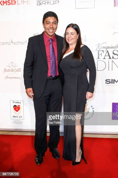 Former brasilian soccer player Giovane Elber and his wife Cintia Elber attend the Kempinski Fashion Dinner on May 23 2017 in Munich Germany