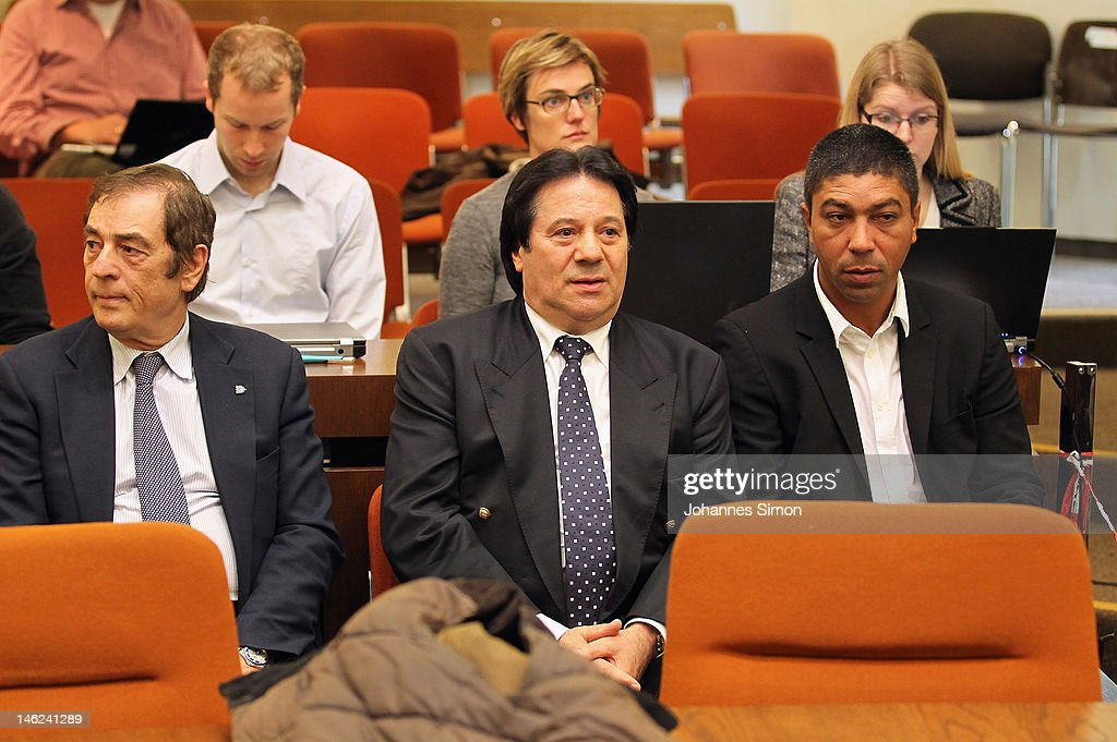 Former Brazilian football player Giovane Elber (R) attends the trial of Breno Vinícius Rodrigues Borges, so called Breno, former player of German football club FC Bayern Muenchen at Munich district court on June 13, 2012 in Munich, Germany. German prosecutors have charged the Bayern Munich defender Breno with aggravated arson after his rented villa was burnt down on September 20, 2011.