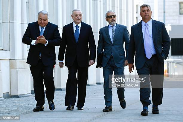 Former Brazilian national football federation president Jose Maria Marin, arrives at the Court of the Eastern District in Brooklyn New York on August...
